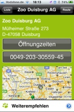 ZooFinder Screenshot